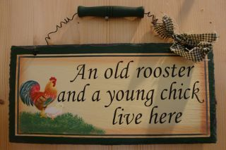 Cute chick - slate hanger